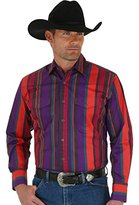 Wrangler Men's Brushpopper Long Sleeve Western Shirt