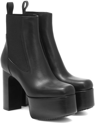 Rick Owens Kiss leather ankle boots