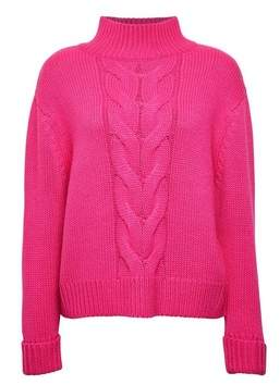 Dorothy Perkins Womens Pink Cable Funnel Neck Jumper, Pink