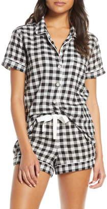J.Crew J. Crew Gingham Short Sleeve Pajama Top (Regular & Plus Size)