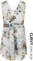 Little Mistress Curvy Floral Printed Cross Over Dress