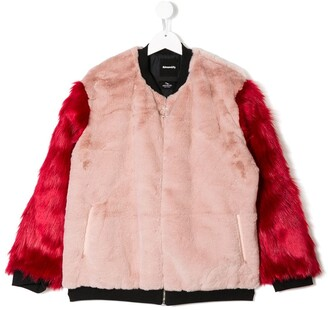 Andorine TEEN faux fur bomber jacket