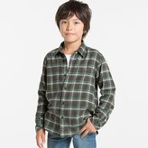 Uniqlo Boys Flannel Check Long Sleeve Shirt