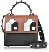 Les Petits Joueurs Mini Alex Eyes Spheres Leather Satchel Bag