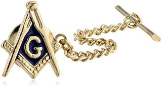 Status Men's Gold Tie Tac-Masonic Compass One Size