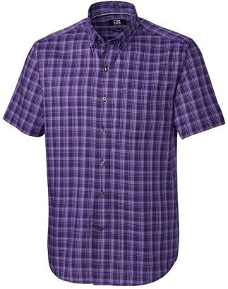 Cutter & Buck Fremont Check Regular Fit Short Sleeve Shirt