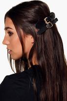 Boohoo Lauren PU Buckle Hair Clip 2 Pack