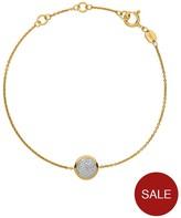 Links of London Sterling Silver 18kt Gold Plated Diamond Set Round Bracelet