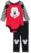 Nannette 2-Pc. Mickey Mouse Bodysuit & Pants Set, Baby Boys (0-24 months)