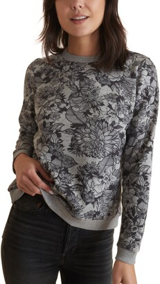 Marine Layer Floral Print Sweatshirt