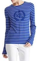 Lauren Ralph Lauren Long-Sleeve Stripe Graphic Tee