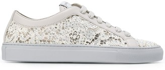Le Silla Embellished Lace Sneakers