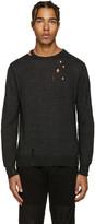 Diesel Black Distressed K-Ideo Sweater