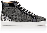 Christian Louboutin Men's Louis Orlato Flat Patent Leather & Snakeskin Sneakers