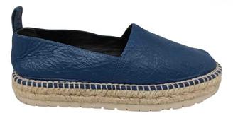 Balenciaga Blue Leather Espadrilles