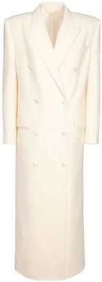 Magda Butrym Wool Blend Double Breast Long Coat
