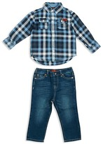 7 For All Mankind Infant Boys' Plaid Flannel Shirt & Straight Jeans Set - Sizes 12-24 Months