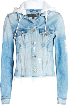 Veronica Beard Cara Hooded Denim Jacket