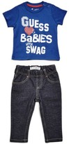 GUESS Boy's Graphic Tee and Jeans Set (0-24m)