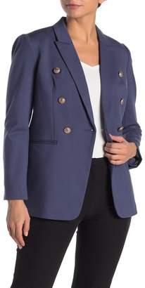 T Tahari Peak Lapel Double Breasted Jacket