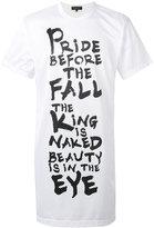 Comme des Garcons lettering print semi-sheer T-shirt - men - Polyester - S