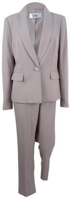 Le Suit LeSuit Women's Glazed Melange 1 Button Pant Suit
