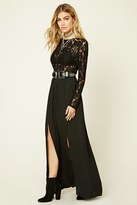Forever 21 FOREVER 21+ Semi-Sheer Lace Maxi Dress