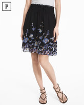 White House Black Market Petite Floral Soft Skirt