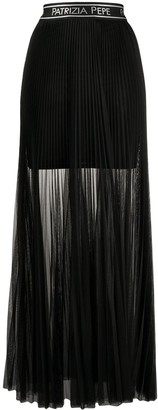 Patrizia Pepe sheer pleated maxi skirt