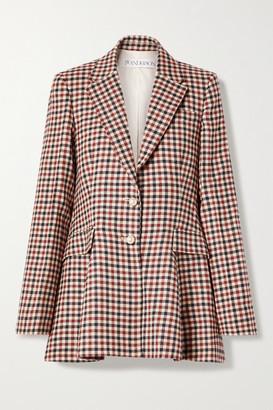 J.W.Anderson Checked Wool Peplum Blazer - Red
