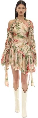 Zimmermann Floral Printed Crepe De Chine Mini Dress