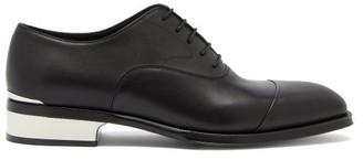 Alexander McQueen Logo-engraved Heel-plaque Leather Oxford Shoes - Black