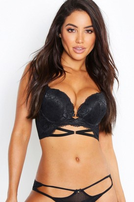 boohoo Scallop Lace Strapping Super Push Up Bra