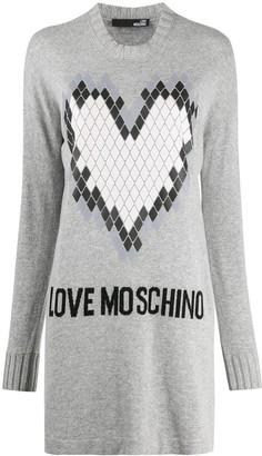 Love Moschino Logo Embroidered Jumper Dress
