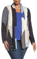 Nic+Zoe Plus Size Women's Overlands Mixed Knit Cardigan