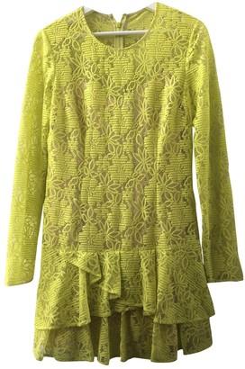 BCBGMAXAZRIA Yellow Lace Dress for Women