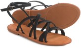 Bamboo Strappy Sandals with Ankle Strap (For Women)