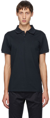 Saint Laurent Navy Pique Monogramme Polo