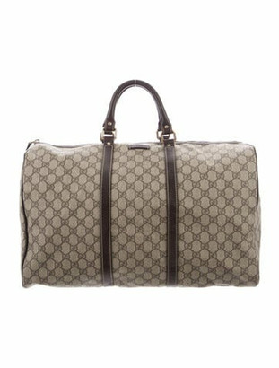 Gucci GG Supreme Duffle Bag Gold