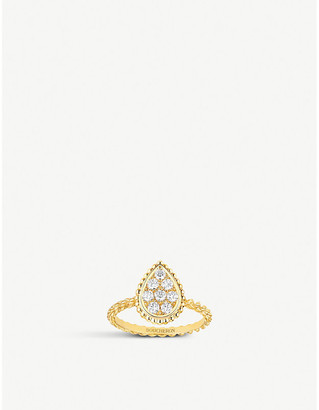 Boucheron Serpent Boheme 18ct yellow-gold and diamond ring, Size: 51mm, yellow