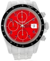Tudor Tiger Prince Date 79260 Red Dial Chronograph Stainless Steel 40mm Watch