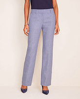 Ann Taylor The Petite Straight Pant in Linen Twill