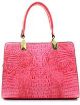 Isa Belle Isabelle Fuchsia Croc Handbag