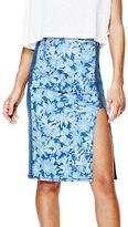 GUESS Women's Windsurf Push-Up Longette Denim Skirt