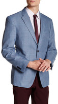 Tommy Hilfiger Blue Houndstooth Two Button Notch Lapel Jacket
