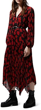 The Kooples Abstract Roses Handkerchief Dress