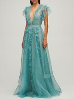 Thumbnail for your product : ZUHAIR MURAD Silk Organza & Lace Dress
