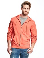Old Navy Garment-Dyed Fleece Full-Zip Hoodie for Men