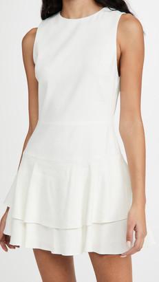 Alice + Olivia Palmira Sleeveless Ruffle Dress