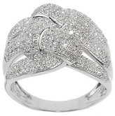 Affinity Diamond Jewelry As Is Woven Design Diamond Ring, 14K Gold 3/4 cttw by Affinity